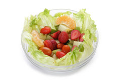 Bowl of fresh salad Royalty Free Stock Photography