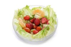 Bowl of fresh salad royalty free stock photography