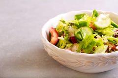 Bowl of fresh salad Stock Photography