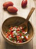 Bowl of fresh salsa Royalty Free Stock Photo