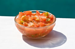 Bowl of Fresh Salsa Royalty Free Stock Photos