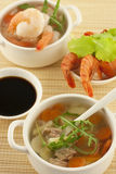 Bowl of fresh seafood soup Royalty Free Stock Images