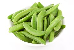 Bowl of Fresh Snow Peas Royalty Free Stock Photo