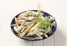 Bowl of fresh sprats Royalty Free Stock Photo