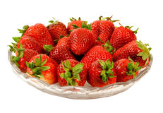 Bowl of fresh strawberries Royalty Free Stock Images