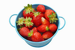 Bowl of fresh strawberries Royalty Free Stock Image