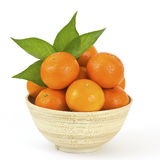 Bowl of fresh tangerines Stock Photography