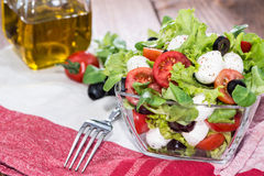 Bowl with fresh Tomato-Mozzarella Salad Royalty Free Stock Photos