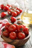 Bowl with fresh tomatoes and olive oil Stock Photography