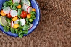 Bowl of fresh vegetable salad Stock Photos