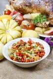 Bowl of fresh vegetable salad Stock Photography