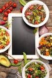 Vegetable salad bowl Royalty Free Stock Photos