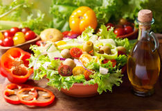 Bowl of fresh vegetable salad Stock Photos