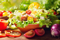 Bowl of fresh vegetable salad Royalty Free Stock Image