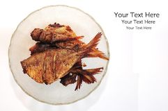 A bowl of fried fish Royalty Free Stock Photography