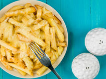Bowl of Fried and Grilled Cheesy Chips Royalty Free Stock Images