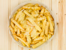 Bowl of Fried and Grilled Cheesy Chips Royalty Free Stock Photography