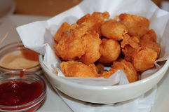 Bowl of Fried Shrimp Royalty Free Stock Photos