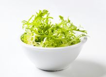 Bowl of frisee Stock Photography