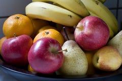 Bowl of Fruit. A Bowl of Fresh Fruit Stock Photos