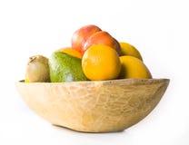Bowl Of Fruit. Isolated on white Stock Photography