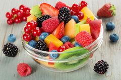 Bowl of fruit cocktail Royalty Free Stock Image