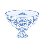 Bowl of fruit faience vector royalty free illustration