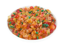 Bowl of fruit and peel mix stock photo