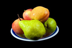 Bowl of Fruit-1. Photo of fresh bowl of fruit with water droplets Stock Image