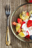 Bowl of fruit salad Royalty Free Stock Images