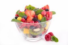 Bowl of fruit salad Stock Photo