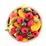 Bowl of fruit salad. On white Royalty Free Stock Photos