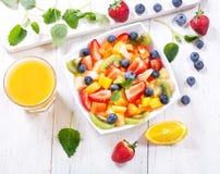 Bowl of fruit salad Royalty Free Stock Photos