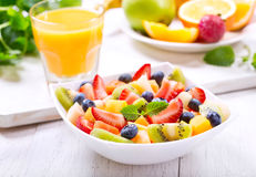 Bowl of fruit salad royalty free stock photography