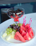 Bowl of fruit on the table at celebration Stock Photography
