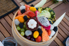 Bowl of fruits Stock Images