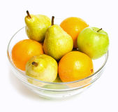 Bowl with fruits Royalty Free Stock Images