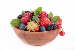 Bowl of fruits Royalty Free Stock Photos