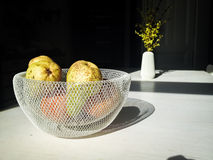 Bowl of fruits in kitchen Royalty Free Stock Photo