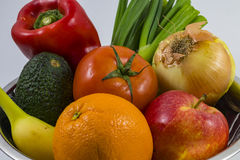 A bowl of fruits and veggies Royalty Free Stock Photo