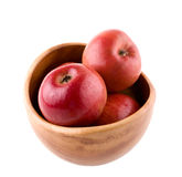 Bowl with fuji apples. On white background Stock Images