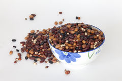 A bowl full of beans Stock Photo