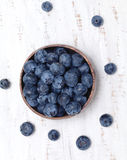 Bowl full of blueberries royalty free stock photos