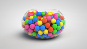 Bowl full of candies Royalty Free Stock Photography