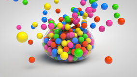Bowl full of candies Royalty Free Stock Photos