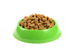 Bowl full of cat food Stock Photography