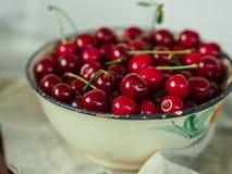 Bowl full  cherries Royalty Free Stock Photo