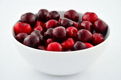 Bowl full with cherries Royalty Free Stock Photos