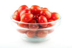 A bowl full of cherry tomatos Royalty Free Stock Photography