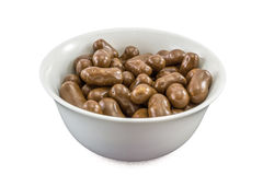 Bowl full of chocolate corn balls Royalty Free Stock Photos